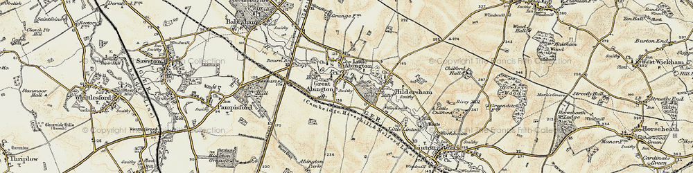 Old map of Great Abington in 1899-1901