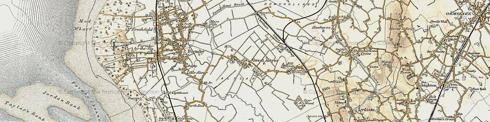 Old map of Withins, The in 1902-1903
