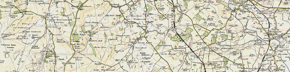 Old map of Whygill in 1903-1904