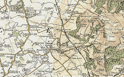 Old map of Great Ayton in 1903-1904