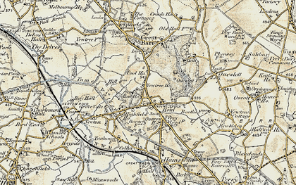 Old map of Great Barr in 1902