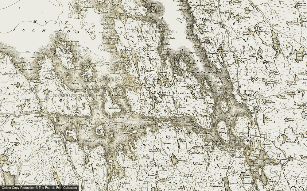 Old Map of Great Bernera, 1911 in 1911