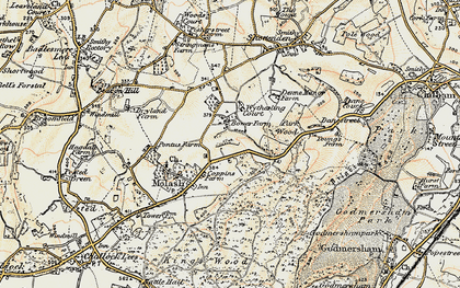 Old map of Wytherling Court in 1897-1898