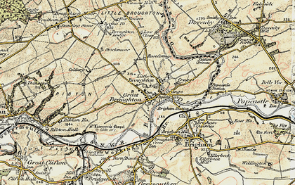 Old map of Great Broughton in 1901-1904
