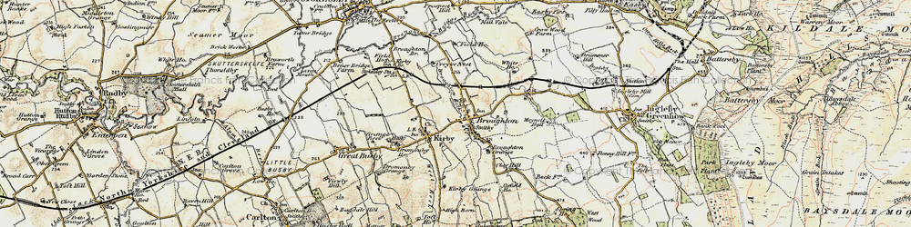 Old map of Toft Hill in 1903-1904