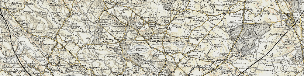 Old map of Great Budworth in 1902-1903