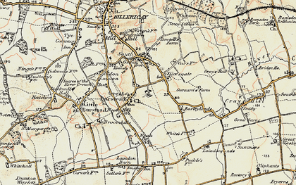 Old map of Great Burstead in 1898