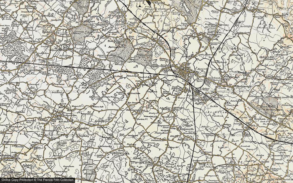 Old Map of Great Chart, 1897-1898 in 1897-1898
