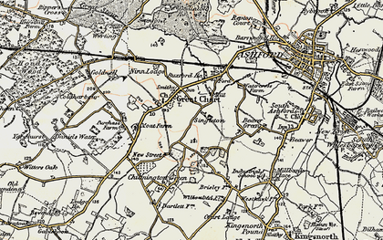 Old map of Great Chart in 1897-1898