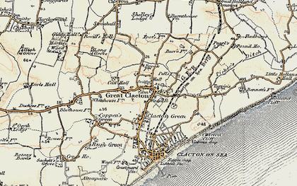 Old map of Great Clacton in 0-1899