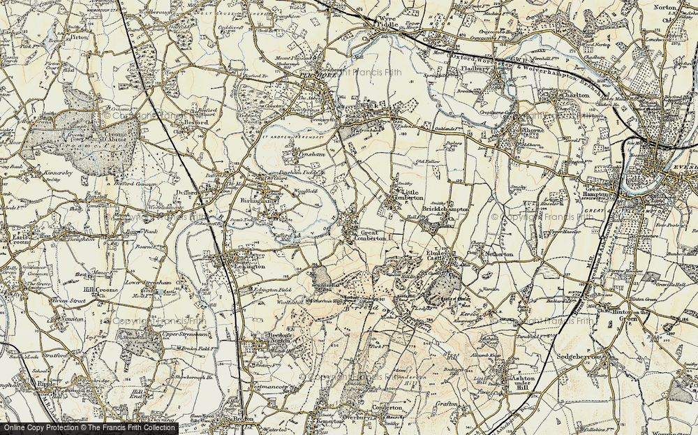 Old Map of Historic Map covering Banbury Stone in 1899-1901