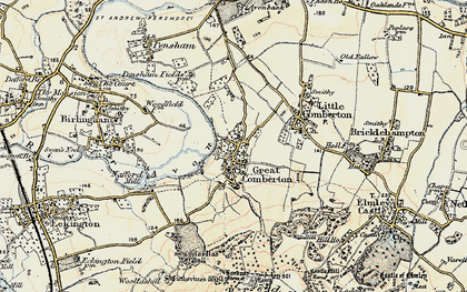 Old map of Banbury Stone in 1899-1901