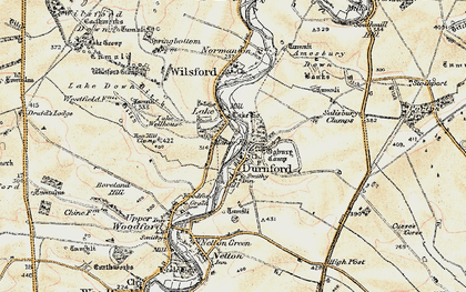 Old map of Great Durnford in 1897-1899
