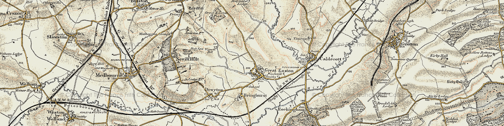 Old map of Wignell Hill in 1901-1902