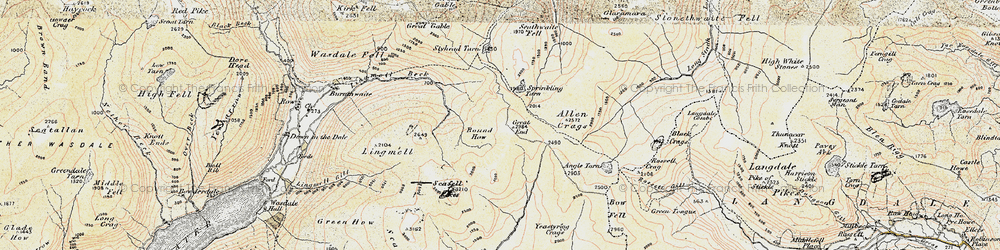Old map of Tongue Head in 1903-1904