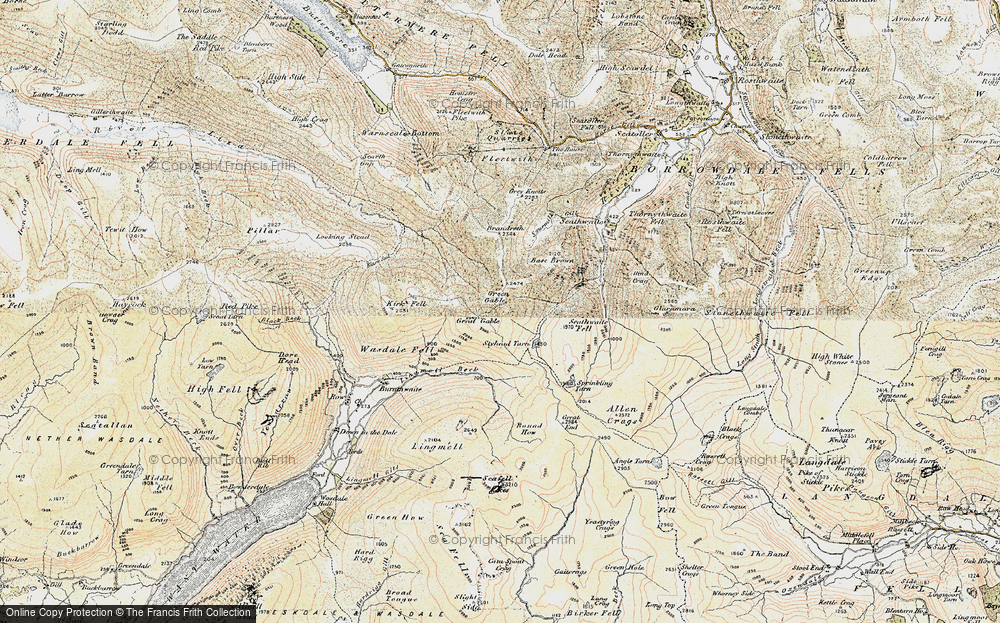 Old Map of Historic Map covering Aaron Slack in 1903-1904