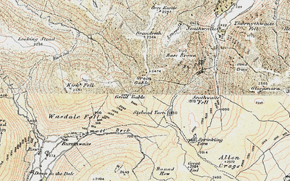 Old map of Aaron Slack in 1903-1904