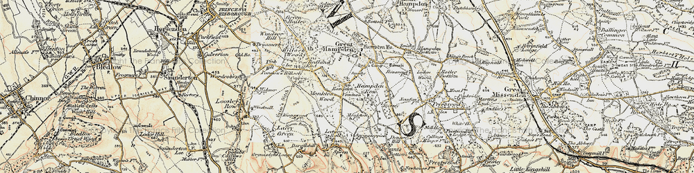 Old map of Great Hampden in 1897-1898