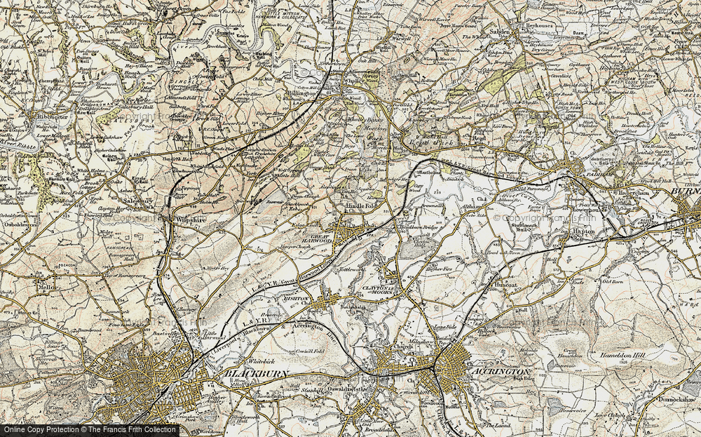 Old Map of Historic Map covering Allsprings in 1903