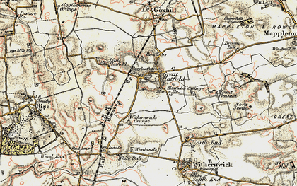 Old map of Withernick Grange in 1903-1908