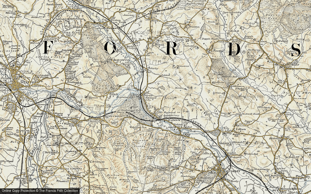 Old Map of Historic Map covering Tolldish in 1902