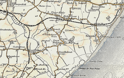 Old map of Great Holland in 0-1899