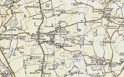 Old map of Great Hormead in 1898-1899