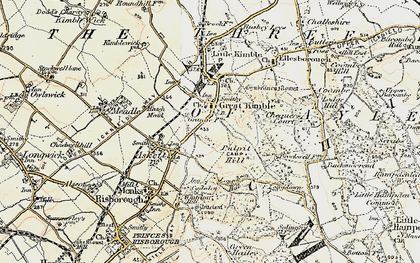 Old map of Great Kimble in 1897-1898