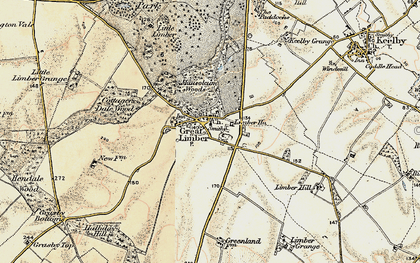 Old map of Limber Hill in 1903-1908