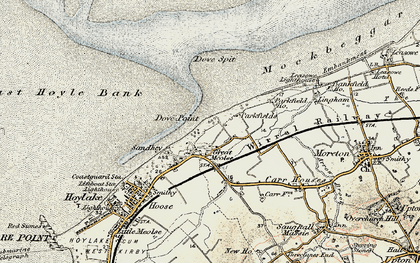 Old map of Great Meols in 1902-1903