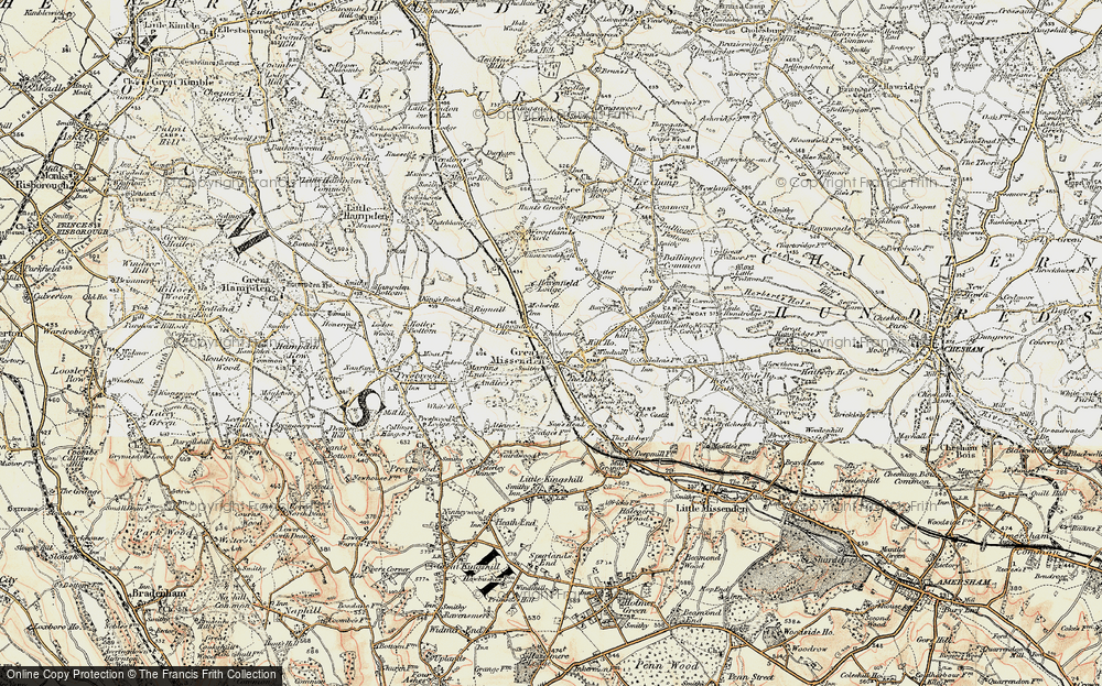 Old Map of Great Missenden, 1897-1898 in 1897-1898
