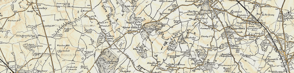 Old map of Westbury Wood in 1898-1899