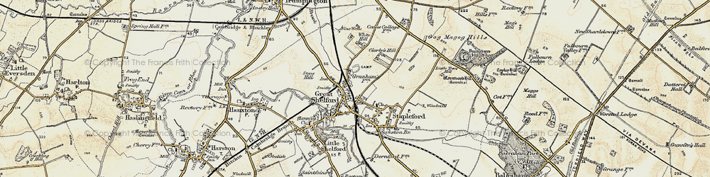 Old map of White Hill in 1899-1901
