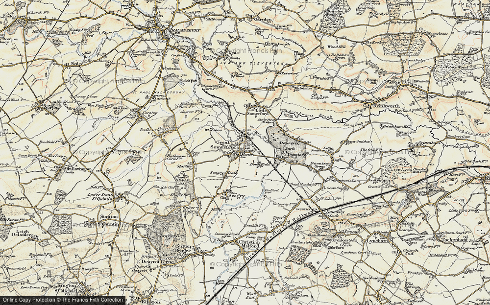 Old Map of Great Somerford, 1898-1899 in 1898-1899
