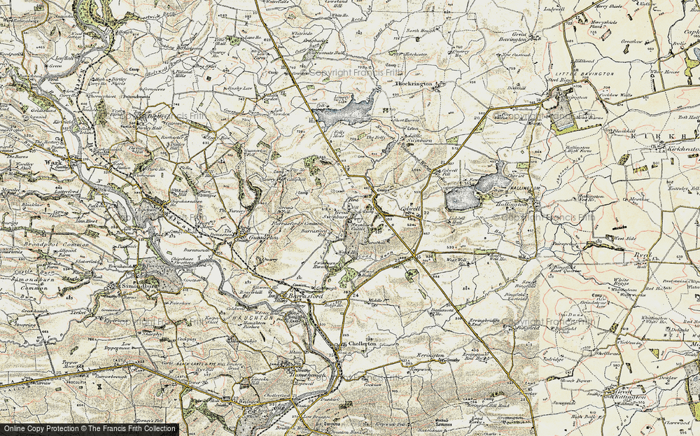 Old Map of Historic Map covering Wheathill in 1901-1903