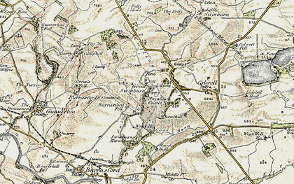 Old map of Wheathill in 1901-1903