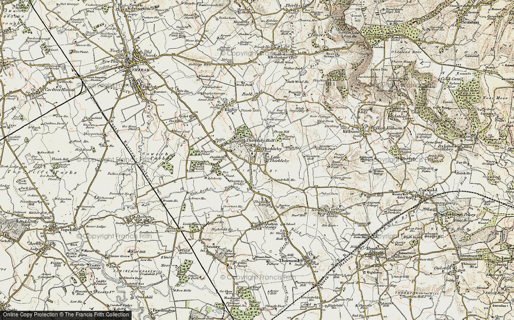Old Map of Historic Map covering Balk Grange in 1903-1904