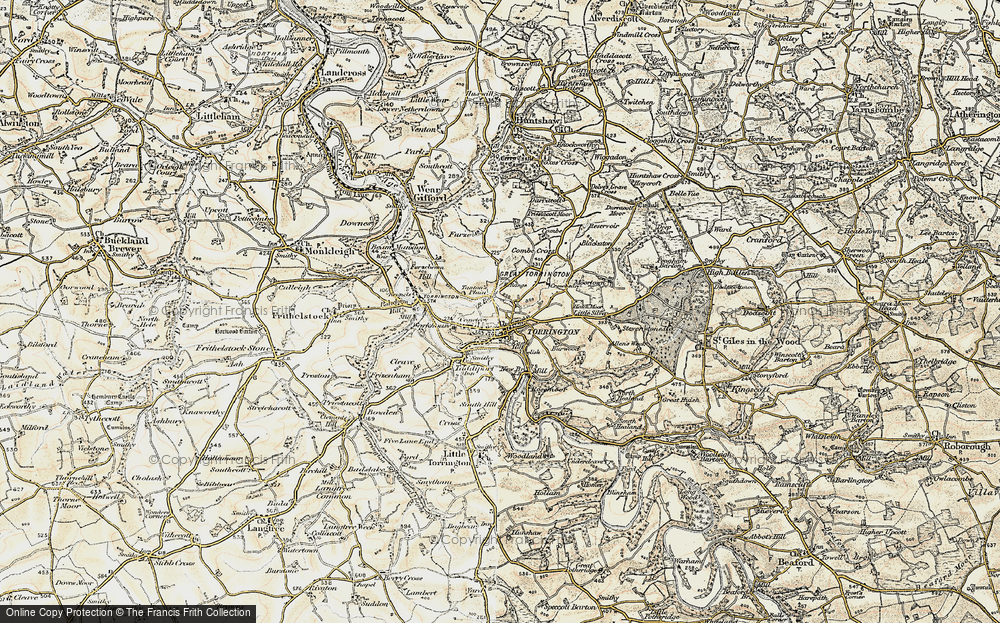 Old Map of Great Torrington, 1900 in 1900