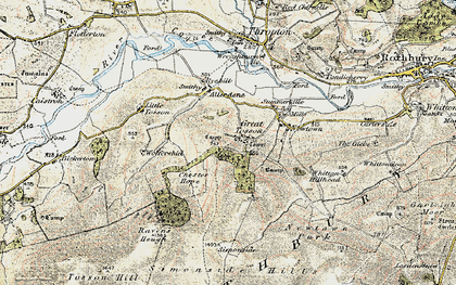 Old map of Wolfershiel in 1901-1903