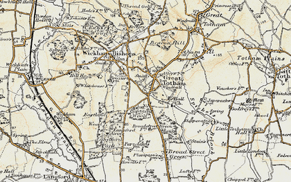 Old map of Langford Grove in 1898