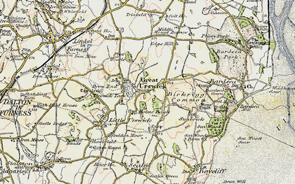 Old map of Great Urswick in 1903-1904