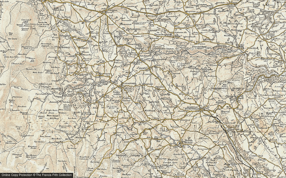 Old Map of Historic Map covering Yellam in 1899-1900