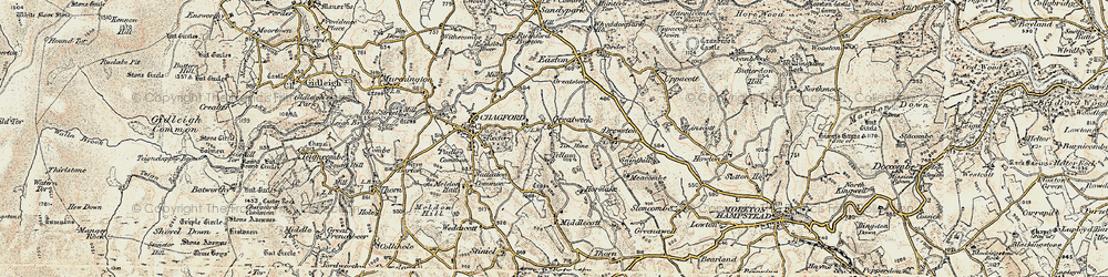 Old map of Yellam in 1899-1900