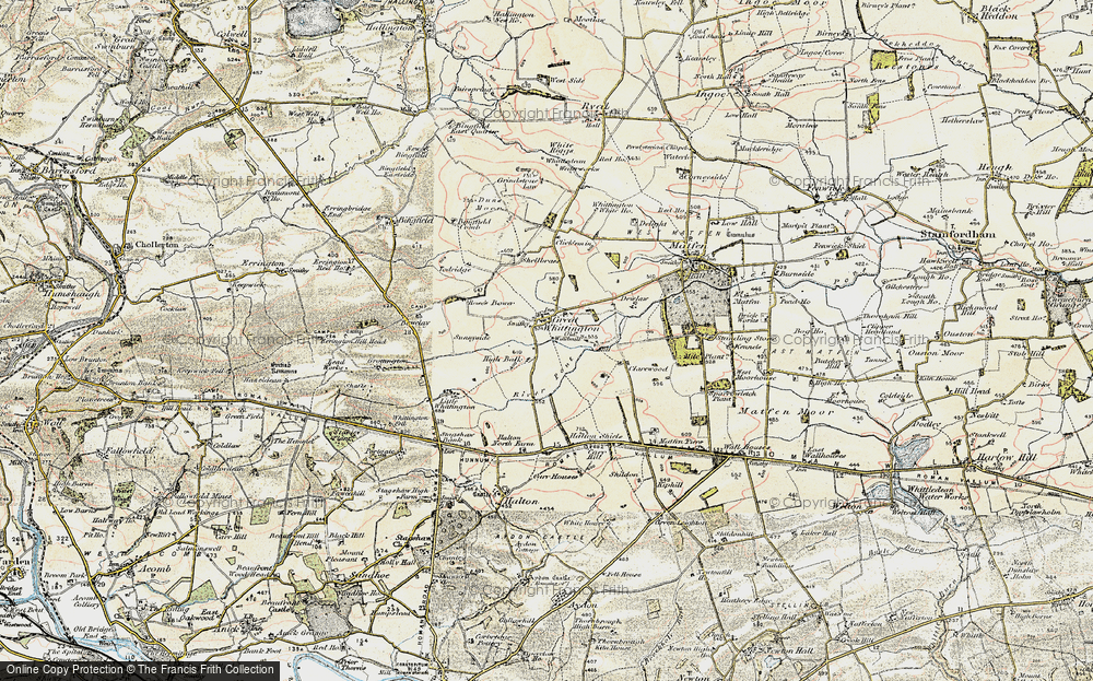 Old Map of Historic Map covering Todridge in 1901-1903
