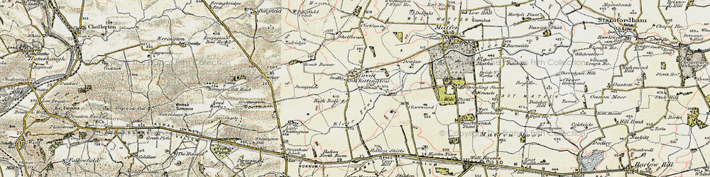Old map of Todridge in 1901-1903
