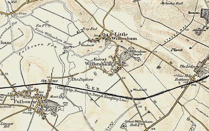 Old map of Wilbraham Temple in 1899-1901