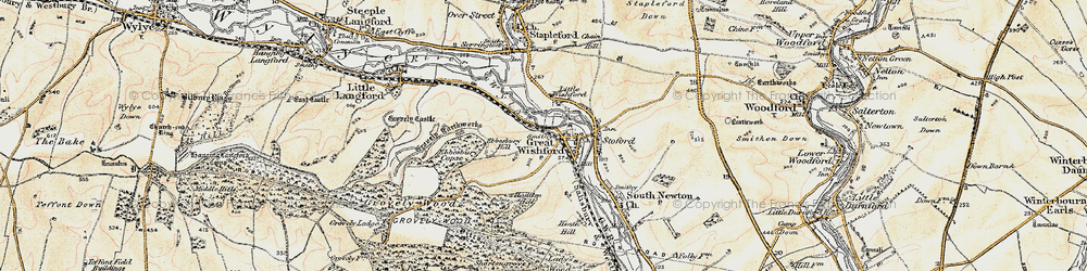 Old map of Great Wishford in 1897-1899