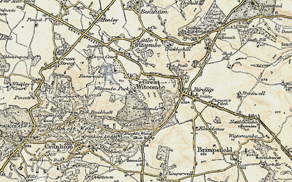Old map of Witcombe Park in 1898-1900