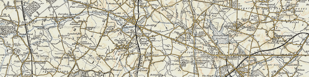 Old map of Great Wyrley in 1902