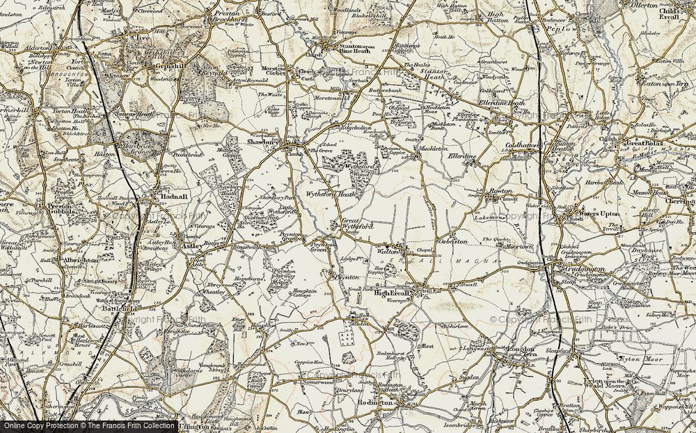 Old Map of Historic Map covering White Lodge in 1902